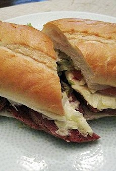 The Hot Salami and Roast Beef at Gioia's Deli.