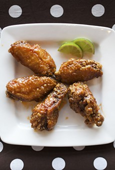 Thai Chile-Lime wings at O! Wing Plus.