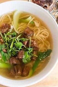 Handmade noodle soup at Corner 17.