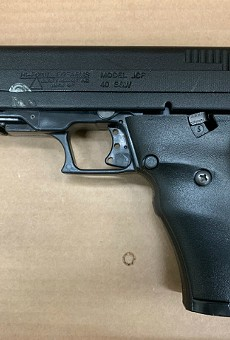 St. Louis County police say this gun was recovered after the shooting.