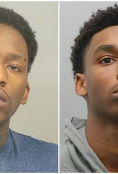 Kelton Rucker (left) and Rasheme Bridges face federal charges.