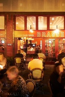 The patio at Brasserie, which is located next door to sister business Taste in the Central West End.