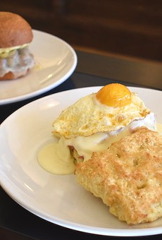 The buttermilk biscuit sandwich at Winslow's Table was something to be grateful for in November.