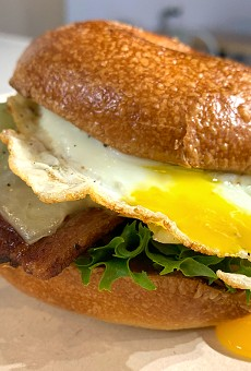 Housemade bagels are a highlight of Yolklore's new build-your-own breakfast sandwich menu.