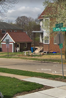 An intersection near where the shooting occurred.