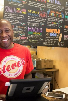 Steve Ewing of Steve's Hot Dogs.