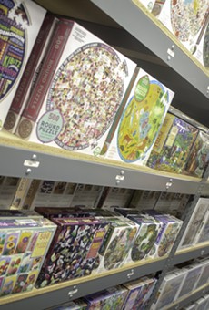 The Puzzle Warehouse has more than 10,000 puzzles and plenty of board games to keep you entertained.