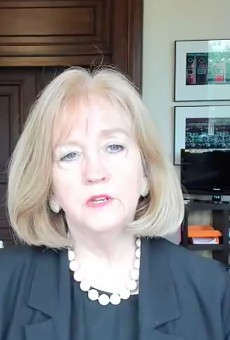 Mayor Lyda Krewson, speaking on a live Facebook broadcast on Monday, asked protesters to wear masks.