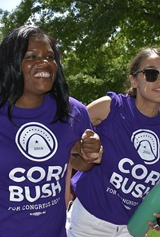 Can Cori Bush, shown campaigning in 2018 with Alexandria Ocasio-Cortez, win the rematch with Rep. Lacy Clay?