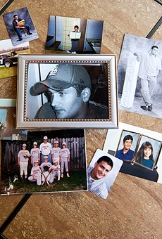 Billy Ames, shown in a collection of family photographs, died in 2018 in the St. Francois County jail.
