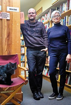 Left Bank Books co-owners Jarek Steele and Kris Kleindienst (with Spike, left) aren't just selling books. They're also creating community.