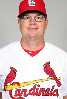 Mike Schildt models the best in Cardinals fashion.