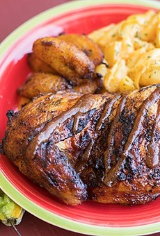 Jerk Sole's jerk chicken.