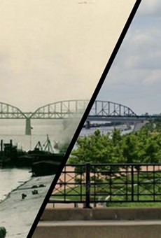 St. Louis Then and Now: The Riverfront and the Gateway Arch