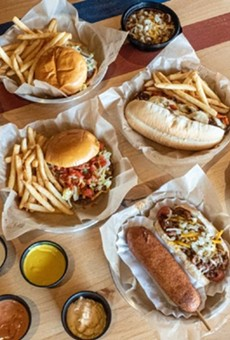 "Off the Wall, from the Mission Taco Joint team, features burgers, hot dogs and other ""boardwalk eats."""