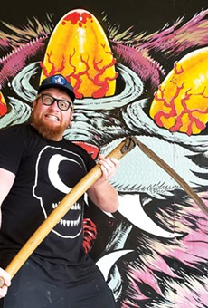 Jason Spencer is best-known for his huge, eye-popping (sometimes literally) murals, but he's found a new hustle in pandemic times: woven blankets.