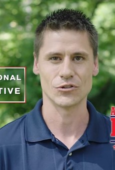"""Missouri Senator Andrew Koenig, shown here in a campaign video, invoked the """"[trans] kids say the darnedest things"""" argument yesterday."""