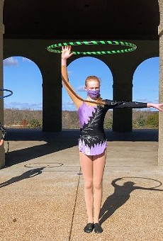 Circus Harmony students performed in front of St. Louis landmarks, while their German counterparts did the same in Stuttgart.