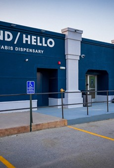 The outside of Sauget's latest dispensary.