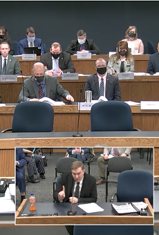 Chris Sevier testifies during a House Committee on General Laws hearing on Monday, Feb. 22