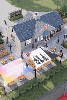 The new Rockwell Beer Garden will be a community gathering spot in St. Louis Hills' Francis Park
