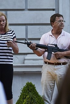 Mark andPatricia McCloskey, seen here on July 28, 2020, committing criminal acts.