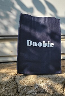 A Doobie bag of delivered cannabis goodies from Jane Dispensary.