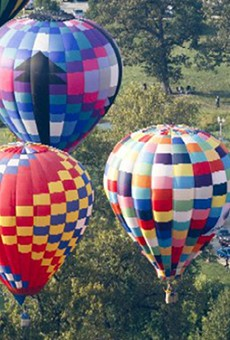 Hot air balloons from years past.