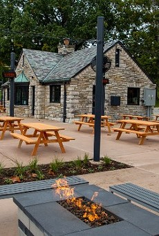 Rockwell's highly-anticipated beer garden opens today in Francis Park.