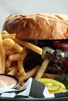 The burger at Snax Gastrobar: Something to behold.