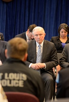 Attorney General Jeff Sessions speaks to law enforcement on March 31 in St. Louis