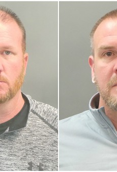 St. Louis police officers Brian Jost (L) and Michael Langsdorf were among four cops charged with forgery and stealing.