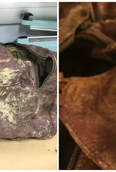 Investigators hope the public can help identify this bag, which held the remains of a baby.