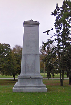 The controversial Confederate Memorial in Forest Park.
