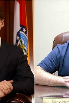 Attorney General Josh Hawley (left) is investigating Mississippi County Sheriff Cory Hutcheson.