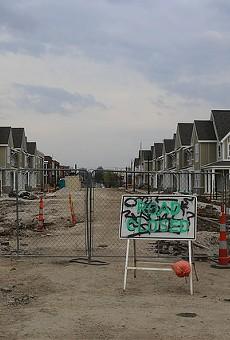 A new housing development underway on Sarah Street.