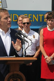 Gov. Eric Greitens pledges state troopers to patrol highways in St. Louis.