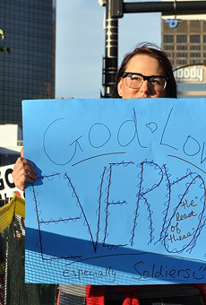 The Westboro Baptist Church last demonstrated at Busch Stadium in 2013, drawing significant counter-protest.