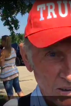 Missouri Man Writes 'Trump' on Glass Eye to Commemorate Presidential Visit