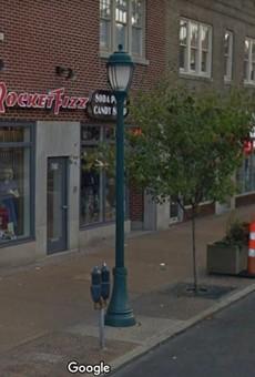 Rocket Fizz's sole St. Louis location is on the Delmar Loop.