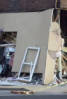 Van Smashes Through South City Building, Displacing Family