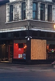 Culpepper's had its windows broken during protests on the night of September 15, 2017.