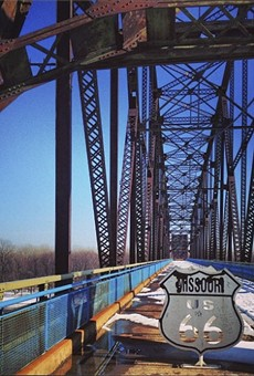 The Chain of Rocks Bridge: Always a thrill.