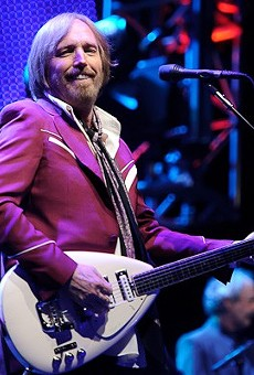 Tom Petty performing live at Verizon Wireless Amphitheater in 2010.