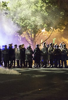 Police dropped tear gas canisters in the Central West End around 10 p.m. on Friday, September 15.