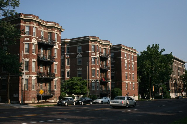 Apartments on Union Avenue in St. Louis. - COURTESY OF FLICKR/PAUL SABLEMAN