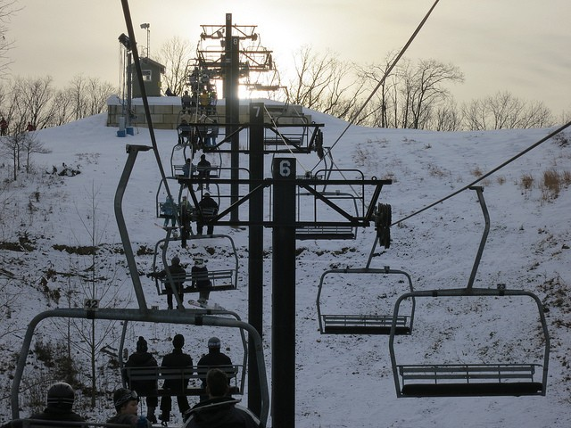 Skiing in Wildwood, Missouri — because the family that freezes together, stays together. - COURTESY OF FLICKR/PAUL SABLEMAN