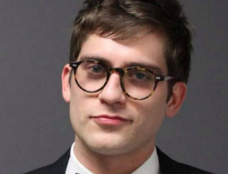 Right-wing blogger Lucian Wintrich shown in his booking photo from Tuesday night. - IMAGE VIA UNIVERSITY OF CONNECTICUT