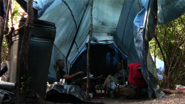 Living in Tents offers an intimate look at a homeless camp that flourished in St. Louis for two years. - SCREEN SHOT FROM LIVING IN TENTS
