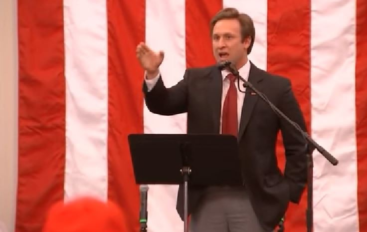Courtland Sykes delivers a speech during a Roy Moore rally in Alabama on December 11, 2017. - SCREENSHOT VIA YOUTUBE